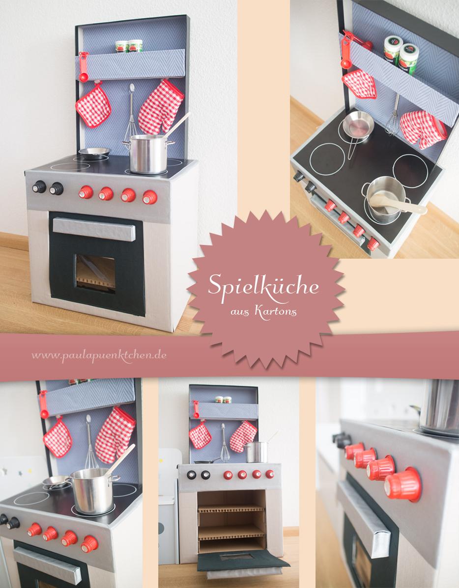 Spielküche aus Kartons – einfach selbst gebastelt - www.paulapuenktchen.de