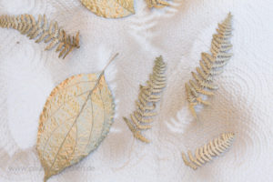 DIY-Herbstdeko goldene Blätter