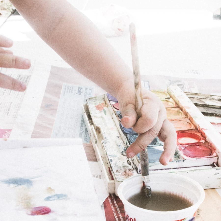 Malen mit Kleinkindern