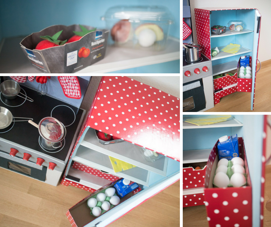 DIY Kinderküche aus Kartons