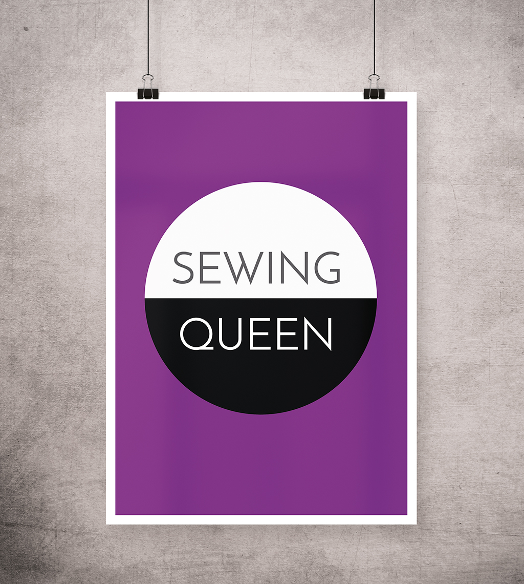 Nähen Poster: Sewing Queen