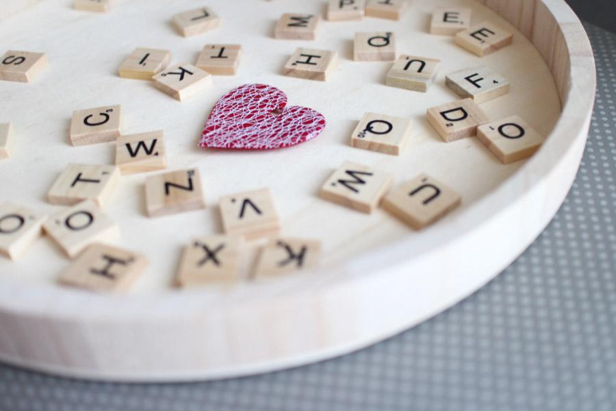 Scrabble Wanddeko zum Hochzeitstag