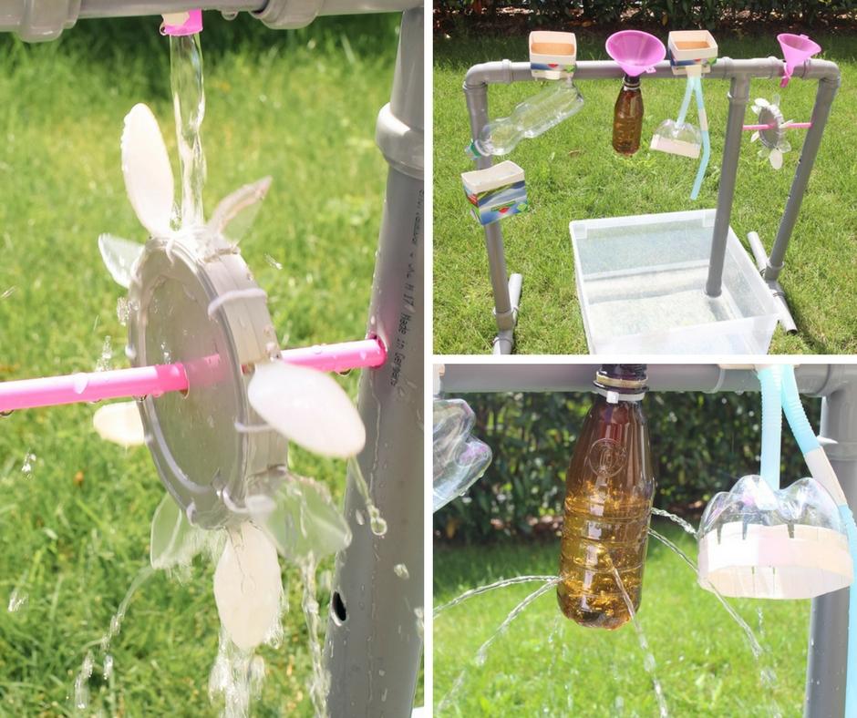 Extrem Wasserspiel für draußen: Wasserrad selber bauen - Paula Pünktchen ZX19