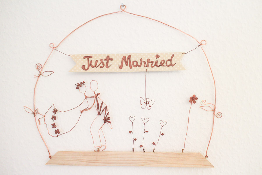 Hochzeitsgeschenk Drahtbild